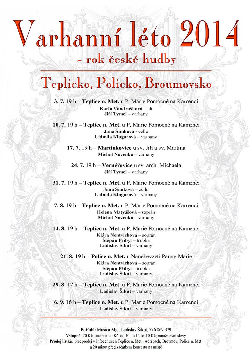 Varhanní koncert na Broumovsku